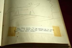 Roald Dahl Day: Mr Fox Manuscript in The Roald Dahl Centre