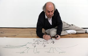 Roald Dahl Day: Quentin at the opening of Wonderful World of Roald Dahl and Quentin Blake