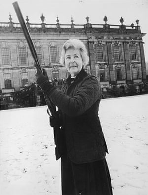 Duchess of Devonshire: The Duchess of Devonshire out shooting