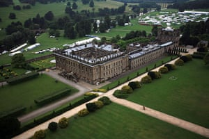 Duchess of Devonshire: Views Over Chatsworth House From A Hot Air Balloon