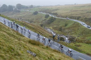 24 hours in sport: Riders on Stage 3 of Tour of Britain 2010, Wales