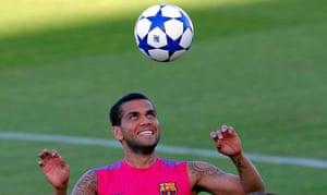 24 hours in sport: Daniel Alves training for Barcelona