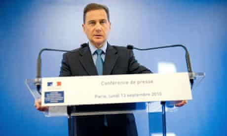 French immigration minister Eric Besson