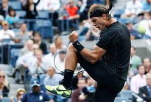 tennis1: Nadal of Spain celebrates