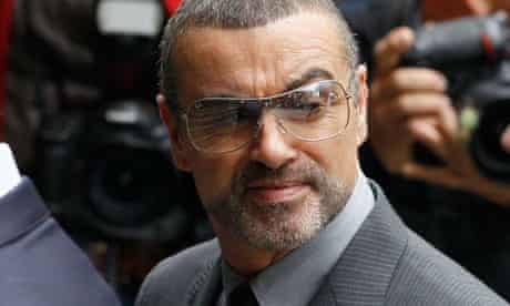 George Michael arrives for sentencing at Highbury magistrates court in London