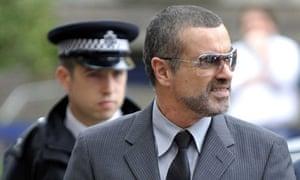 George Michael arrives highbury court cannabis crash