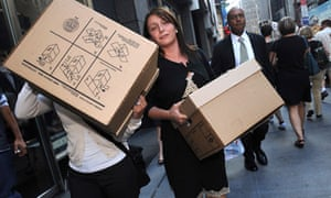 lehman brothers employees leave offices
