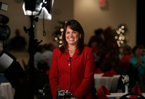 Tea Party politicians: US Senate candidate Christine O'Donnell smiles before a televison interview