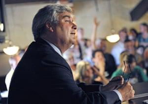 Tea Party politicians: Republican gubernatorial hopeful Tom Emmer listens to a question