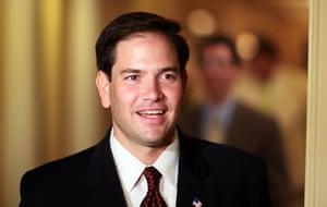 Tea Party politicians: Republican candidate for the open Florida Senate seat, Marco Rubio