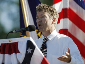 Tea Party politicians: Republican US Senate candidate Rand Paul address a tea party rally