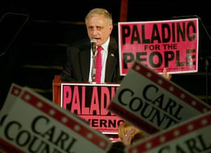 Tea Party politicians: Carl Paladino speaks after winning the NY State Republican primary