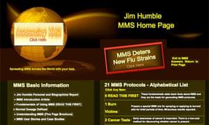 Jim Humble's MMS homepage (screen grab)