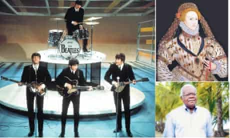 Great Britons: The Beatles, Elizabeth I and Trevor McDonald.