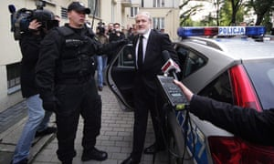 Chechen separatist leader Ahmed Zakayev is arrested in Warsaw, Poland