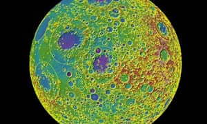 Map of moon's craters