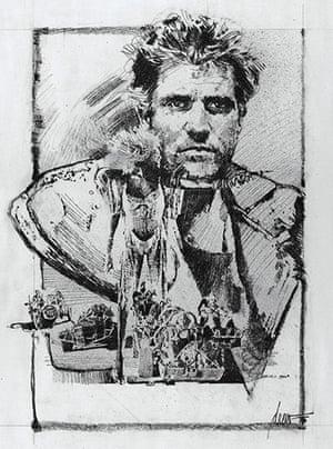 Struzan: Mad Max sketch