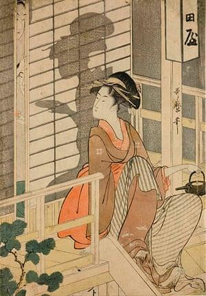 Kitagawa Utamaro: The Nakadaya Tea-House (c1794-5) by Kitagawa Utamaro