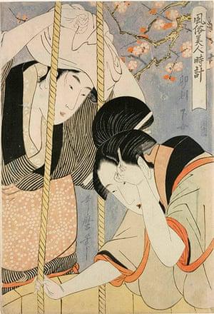 Kitagawa Utamaro: Hour of the Hare: Servant Women by Kitagawa Utamaro