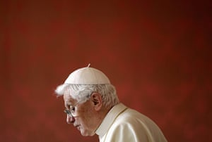 Pope 3: Pope Benedict XVI arrives for a meeting of religious