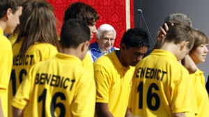 Pope 3: Pope Benedict XVI  meets Manchester City junior soccer players