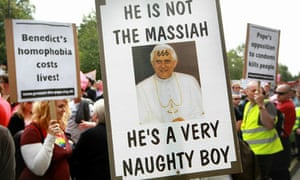 Anti-pope protesters gather near Hyde Park