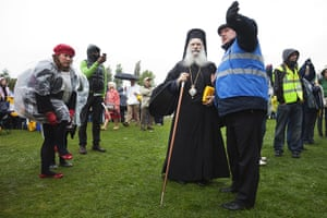 pope in birmingham: An Orthodox cleric arrives