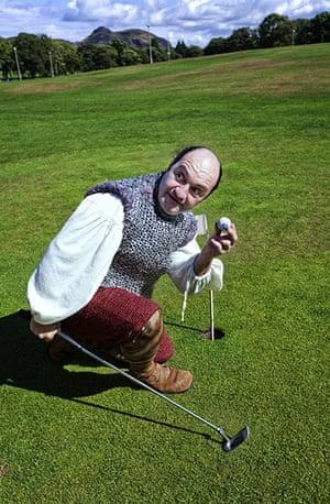 Edinburgh Festival: Montezuma cast costume photocall, Bruntsfield Links