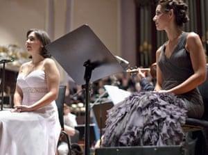 Edinburgh Festival: Soprano Jessica Rivera (left) and mezzo soprano Kelly O'Connor