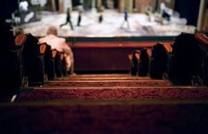Edinburgh Festival: Stage set-up for Porgy and Bess at the Festival Theatre, Edinburgh
