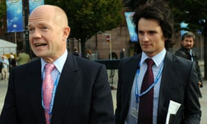 William Hague and Christopher Myers in 2009.