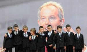 Former British Prime Minister Tony Blair visits Kosovo.