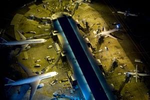 Aerial Views Of New York : Aerial view of Newark Liberty International Airport