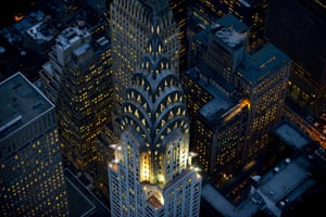 Aerial Views Of New York : Aerial view of the Chrysler Building