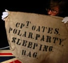 Captain Oates' sleeping bag case at an auction of Scott's items.