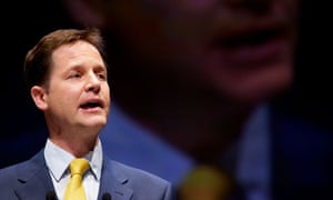 Nick Clegg speaking in Liverpool