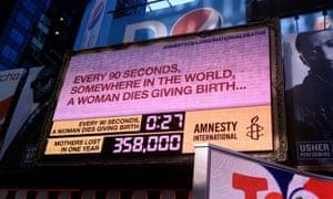 Amnesty International maternal death clock