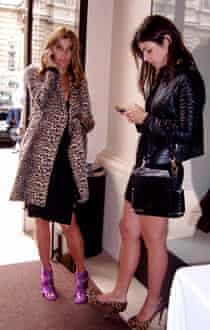 Carine Roitfeld and daughter Julia.