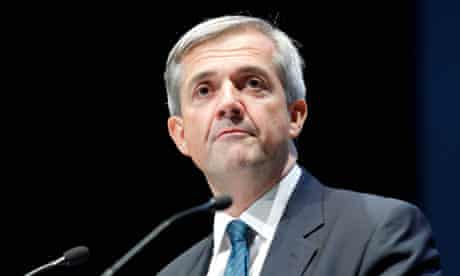 Chris Huhne addresses the Lib Dem conference in Liverpool