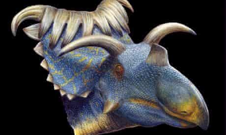 Kosmoceratops horned dinosaur