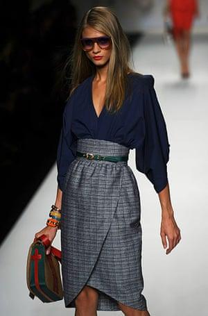 Milan Fashion Week Day 2: A model during Fendi spring-summer 2011 collection