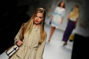 Milan Fashion Week Day 2: A model displays a creation as part of Fendi SS2011 in Milan