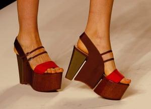 Milan Day 2 Update: Shoe detail Fendi Spring-Summer 2011 fashion collection