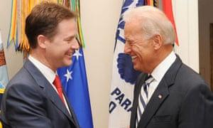 Nick Clegg and Joe Biden