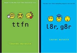 The TTYL series by Lauren Myracle