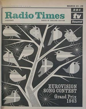 Radio Times - Cover - Eurovision - March 23rd 1963