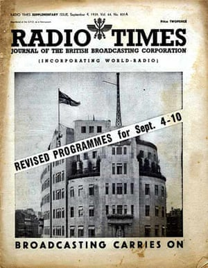 Radio Times - Cover September 4th 1939