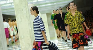Milan Day 2 Update: Models display creations as part of Prada SS2011