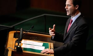 Nick Clegg the UN general assembly