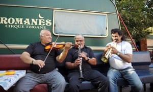 Musicians of the Romanes Gypsy circus